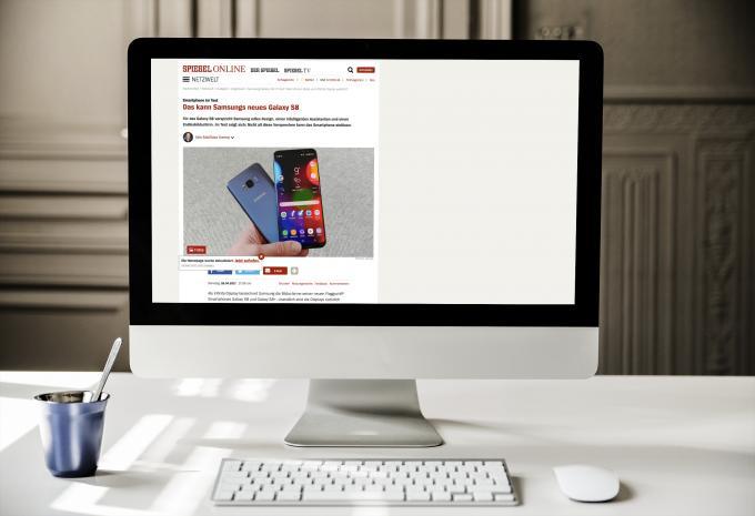 Testbericht zum Samsung Galaxy S8 des Spiegels