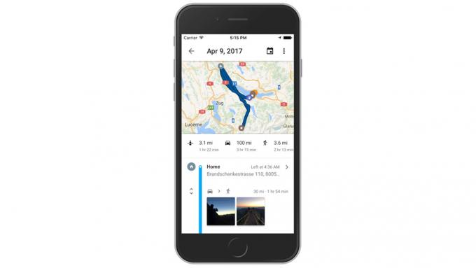 Google Maps für iOS hat seit gestern eine neue Zeitachsen-Funktion