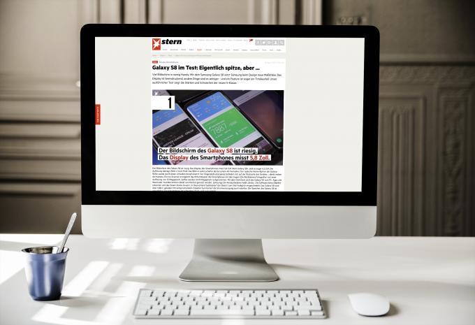 Testbericht zum Samsung Galaxy S8 des Stern