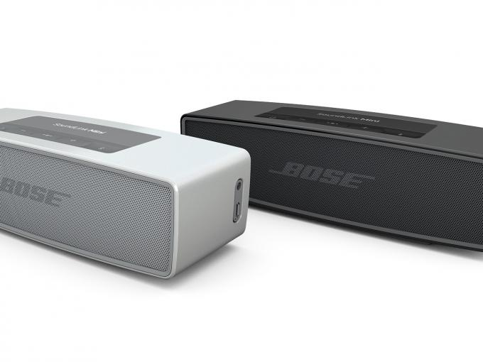 """Bose SoundLink Mini II in den Farben """"Pearl"""" und """"Carbon"""""""