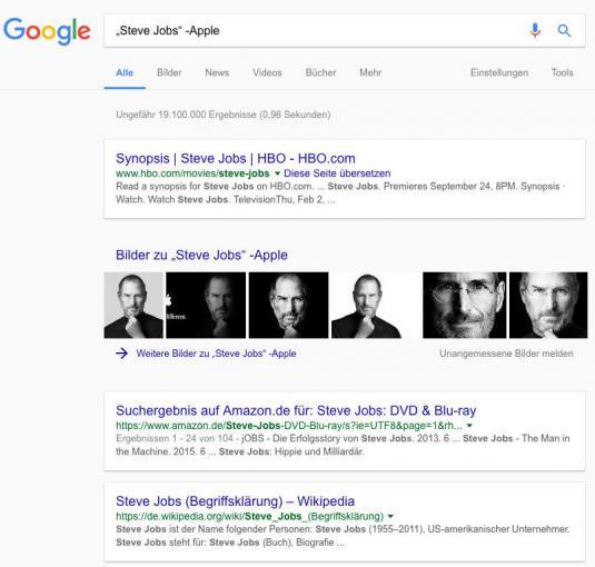Exakte Wortkombination bei Google finden