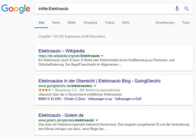 Seitenbeschreibung bei Google durchsuchen