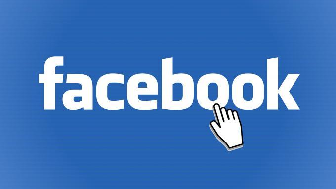 Facebook-Logo mit Mauszeiger