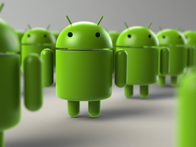 Android-Roboter überrennen quasi den Markt der Smartphones