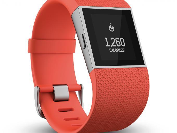 Fitbit Surge in Orange