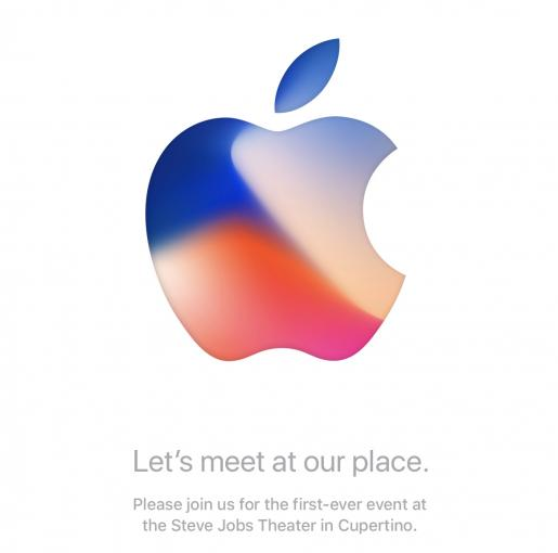 Dieses Apple-Logo ziert die Einladungen.