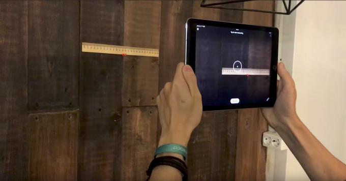 Mit MeasureKit lässt sich die Umgebung genau vermessen.