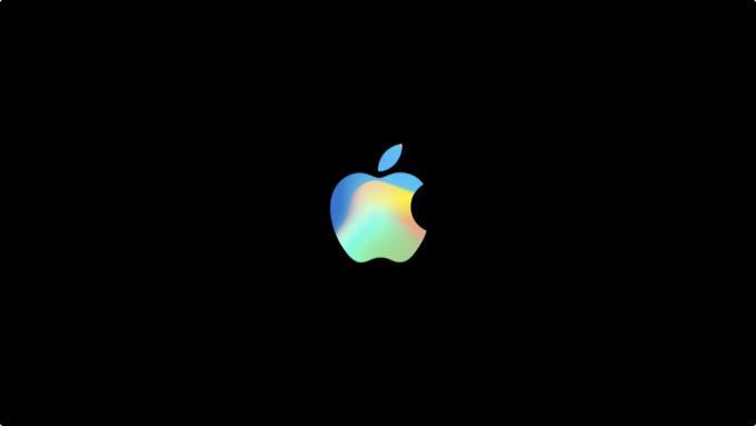 Das Logo von Apple erstrahlte bei dieser Keynote besonders bunt