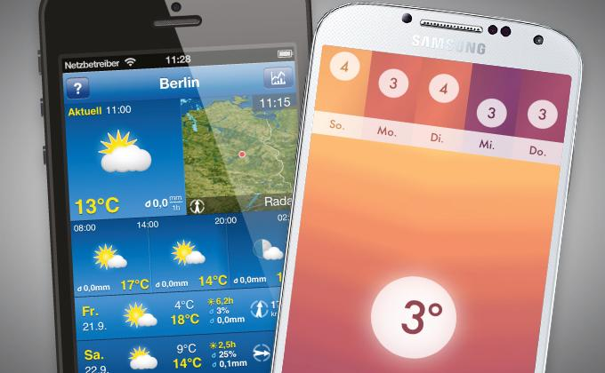 Die besten Wetter-Apps
