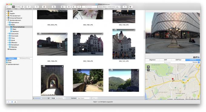Dateibrowser in GraphicConverter 9