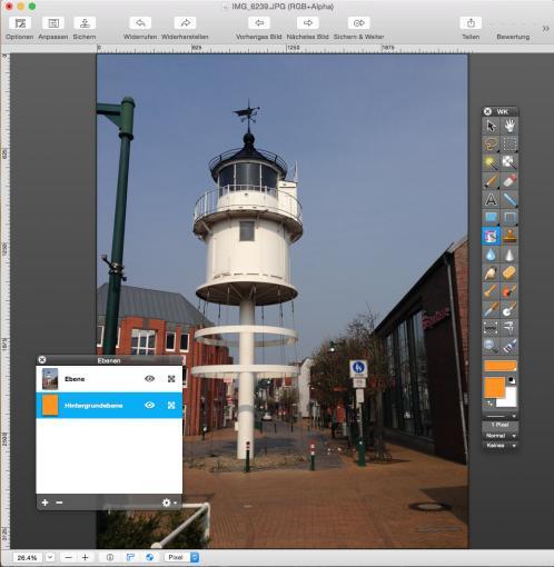 Bildbearbeitungs-Werkzeuge in GraphicConverter 9