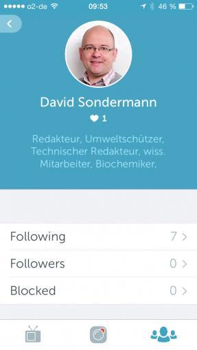 Das User-Profil kann von twitter übernommen werden