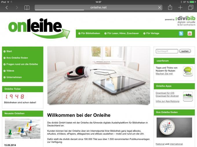 ipad ebooks f r das apple tablet leihen statt kaufen tech de. Black Bedroom Furniture Sets. Home Design Ideas