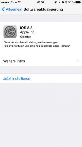 Apple hat am Mittwochabend neben dem Yosemite-Update auch iOS 8.3 zum kostenlosen Download zur Verfügung gestellt.