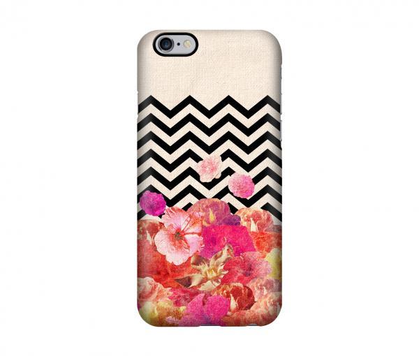"""Die iPhone 6-Hülle """"Chevron Flora II"""" schützt Ihr iPhone und sieht sommerlich aus."""