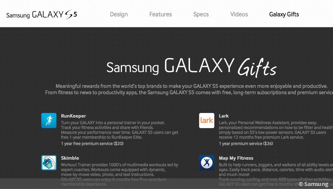 Gratis-Dreingabe für S5: Samsung verschenkt App-Abos im ...