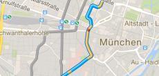 Google Maps App zeigt Route in praktischer Vorschau an
