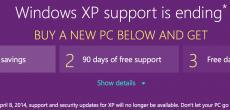 100 US-Dollar für alle, die XP aufgeben